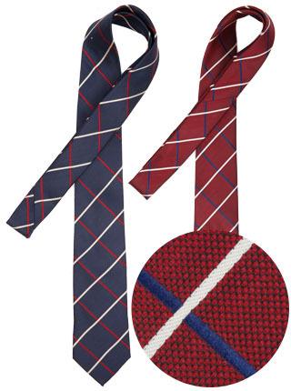 LTIE-047 와플넥타이 (솔리드) 네이비,와인 [제작 대량 도매 로고 인쇄 레이저 마킹 각인 나염 실크 uv 포장 공장 문의는 네이뽕]