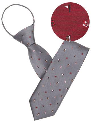 LTIE-065 해양소년단넥타이 (자동) 그레이,와인 [제작 대량 도매 로고 인쇄 레이저 마킹 각인 나염 실크 uv 포장 공장 문의는 네이뽕]