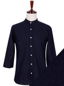 FS-193 린넨 7부셔츠-네이비